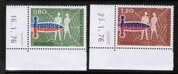 MONACO  Scott # 1045-6** VF MINT NH (Stamp Scan # 489) - Monaco
