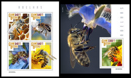 GUINEA BISSAU 2019 - Bees. M/S + S/S. Official Issue - Insecten