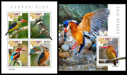 GUINEA BISSAU 2019 - Kingfishers. M/S + S/S. Official Issue - Vogels