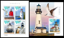 GUINEA BISSAU 2019 - Lighthouses, Seagulls. M/S + S/S. Official Issue - Meeuwen