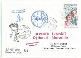 YT 198 - Andrée Et Edgar Aubert De La Rüe - Transit Du Marion Dufresne - Escale à Port Saïd - Egypte - Terres Australes Et Antarctiques Françaises (TAAF)
