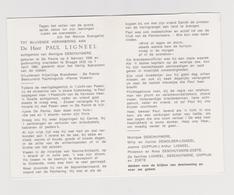 DOODSPRENTJE LIGNEEL PAUL ECHTGENOOT DESCHUYMERE DE PANNE BRUGGE (1936 - 1992) BRANDWEER Met FOTO - Images Religieuses