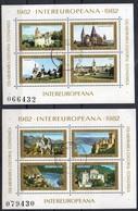 Rumänien 1982 MiNr. 3859/ 3866 (Blöcke 186, 187)  O/ Used ;   Intereuropa: Burgen Und Schlösser - 1948-.... Républiques