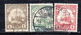 APR508 - KIAUTSCHOU 1905 ,  Te Valori Usati Filigrana Losanghe  (2380A). - Colonia: Kiautchou