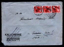 A6148) SBZ Brief Handstempel 20 Staßfurt 08.07.48 N. Berlin MeF Mi.168IV (3) - Sowjetische Zone (SBZ)