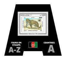 SIERRA LEONE 2019 - Fauna, Afghanistan: Leopard. Official Issue. - Roofkatten