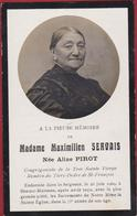 Maximilien Servais Aline Pirot Beauce-Malonne Beauce Malonne 1909 Doodsprentje Bidprentje Image Mortuaire - Images Religieuses