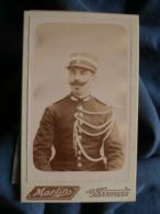 Photo CDV Martin à Sancoins - Portrait Gendarme, Belles Moustaches , Vers 1890 L440 - Anciennes (Av. 1900)