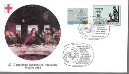 VATICAN  FDC 1983 Lourdes - Vatican