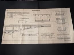 ANNALES DES PONTS Et CHAUSSEES (DEP 83) - Plan Du Pont Charles-Albert Sur Le Var - 1913 - Imp A.Gentil (CLF01) - Travaux Publics