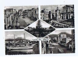 TORRE DEL GRECO - SALUTI / VEDUTINE - EDIZ. ALTERIO -  1958  (3227) - Torre Del Greco