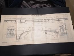 ANNALES DES PONTS Et CHAUSSEES (DEP 13) - Plan Du Viaduc De Caronte - 1913 - Imp A.Gentil (CLF02) - Travaux Publics