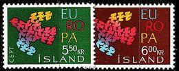 ISLAND ICELAND [1961] MiNr 0354-55 ( **/mnh ) CEPT - 1944-... Republique