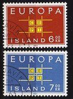 ISLAND ICELAND [1963] MiNr 0373-74 ( O/used ) CEPT - 1944-... Republik