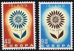 ISLAND ICELAND [1964] MiNr 0385-86 ( **/mnh ) CEPT - 1944-... Republique