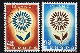 ISLAND ICELAND [1964] MiNr 0385-86 ( O/used ) CEPT - 1944-... Republik