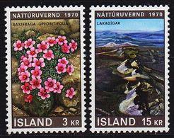 ISLAND ICELAND [1970] MiNr 0447-48 ( **/mnh ) Landschaft - Ungebraucht