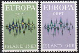 ISLAND ICELAND [1972] MiNr 0461-62 ( **/mnh ) CEPT - Ungebraucht