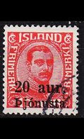 ISLAND ICELAND [Dienst] MiNr 0043 ( O/used ) - Dienstpost