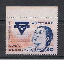 COREA  DEL  SUD:  1962  Y.W.C.A.  -  40 W. POLICROMO  N. -  YV/TELL. 268 - Corea Del Sud