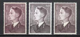 BELGIE 1952 BOUWDEWIJN 3 SOORTEN POSTFRIS MNH** GOMME POSTALE ORIGINE KOOPJE  TB//VF - Belgium