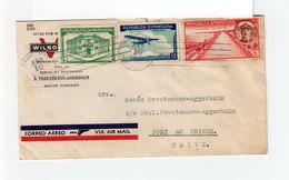 Sur Env. Correo Aero  3 T. République Dominicaine Dont 1 Aérien. CAD 1936. De Santo Domingo Vers Haïti. (2149x) - Dominicaine (République)