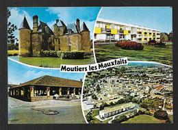 Cpm 8519920 Moutiers Les Mauxfaits 4 Vues Situées Sur Carte , Les Halles , Vue Générale Aérienne, L'hermitage - Moutiers Les Mauxfaits