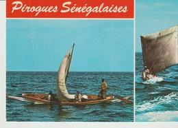 C.P. - PHOTO - PIROGUES SÉNÉGALAISES  - RENAUDEAU - 2  VUES - AFRICA - Sénégal