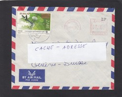 LETTRE DU ZAIRE AVEC EMA ET TIMBRE DE 25000 NZ. - 1990-96: Gebraucht