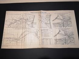 ANNALES DES PONTS Et CHAUSSEES (Dep 50)- Plan Du Mouvement Des Grèves Aux Mont St Michel - 1913 - Imp .A.Gentil (CLF08) - Zeekaarten