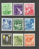 NIGERIA 1961 YVERT NUM. 97/105 ** NUEVOS SIN FIJASELLOS - Nigeria (1961-...)