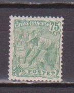 GUYANE          N° YVERT  :    62     NEUF AVEC  CHARNIERES      ( 1071  ) - Guyane Française (1886-1949)