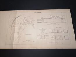 ANNALES DES PONTS Et CHAUSSEES (Belgique) - Plan Du Pont De Zeebrugge - 1901 - (CLF10) - Travaux Publics