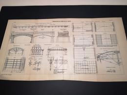 ANNALES DES PONTS Et CHAUSSEES (Dep 62) - Plan De Consolidation Du Viaduc De La Canche - 1906 - (CLF11) - Public Works