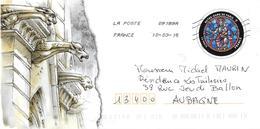 Enveloppe Entier Postal Sur Notre Dame De Paris (vente Au Profit De ND) - Usati