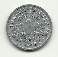 1942 - Francia 1 Franc - H. 1 Franco
