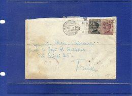 ##(DAN195)-1928-Busta Da Firenze Per Trieste Annullo A Targhetta Mosche E Zanzare Al Retro Inusuale Bollo Arrivo Trieste - Marcophilie