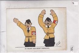 DE NIEUWE NAZI GROET (VERPLICHT). THE NEW NAY SALUTE (OBLIGED). EINDHOVENSCH DAGBLAD. CIRCA 1950's- BLEUP - Humour