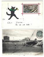 76 - LE HAVRE - Lot De 2 CPA - La Vie Est Belle, Chat Humanisé - Barque De Pêche - Le Havre