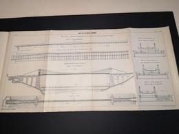 ANNALES DES PONTS Et CHAUSSEES (Dep 56) - Plan Du Pont De La Roche Bernard - Imp A.Gentil 1912 - (CLF12) - Travaux Publics