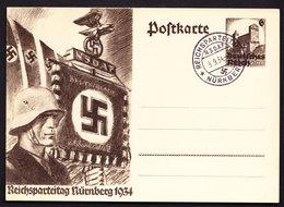 Deutsches Reich Propaganda Karte Reichsparteitag Nürnberg 1934 Sonderstempel 9.9.1934 - Briefe U. Dokumente