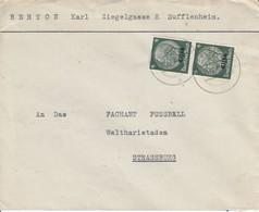 Env Affr Michel Elsass 4 X 2 Obl SUFFLENHEIM Du 21.12.40 Adressée à Straßburg - Marcophilie (Lettres)