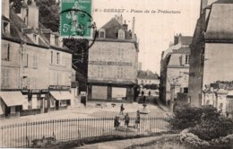 CPA   23   GUERET---PLACE DE LA PREFECTURE---1916 - Guéret