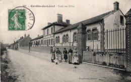 CPA   45  CERDON-DU-LOIRET---ECOLE DES FILLES---1913---ANIMEE - France