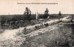 CPA   60   CIMETIERE AUX ALENTOUR D'ELINCOURT-SAINTE-MARGUERITE - France