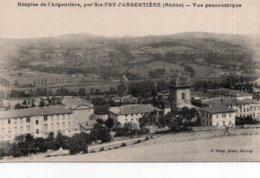 CPA   69   HOSPICE DE L'ARGENTIERE, PAR STE-FOY-L'ARGENTIERE---VUE PANORAMIQUE - France
