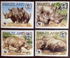 Swaziland 1987 White Rhinoceros Animals MNH - Rhinozerosse