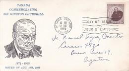 CANADA COMMEMORATING SIR WINSTON CHURCHILL-FDC CANADA OTTAWA CIRCA 1965 - BLEUP - First Day Covers