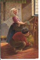 L35B558 - Dessin D'Enfants Faisant La Vaisselle , Grandes Bassines - T.S.N Série 803 - Dessins D'enfants