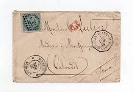 !!! PRIX FIXE : REUNION, LETTRE DE 1869 POUR LA FRANCE, CACHET CORRESP D'ARMEES ST DENIS - Réunion (1852-1975)